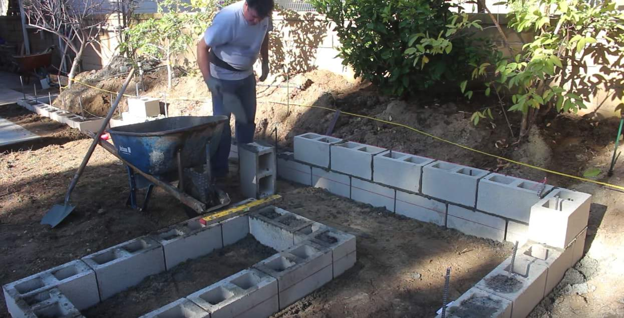 this was a do it yourself retaining walls project that is almost complete
