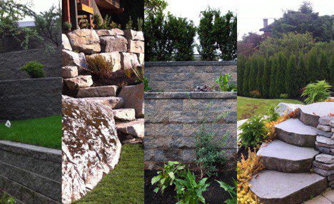 retaining wall completion
