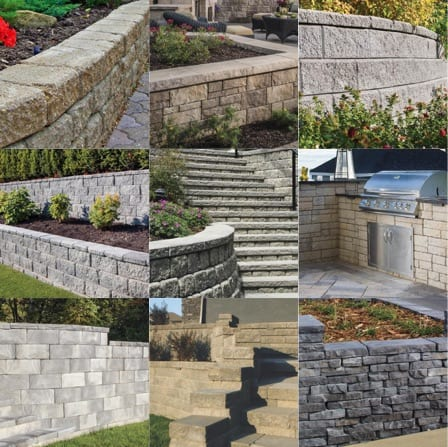 retaining wall installation squares
